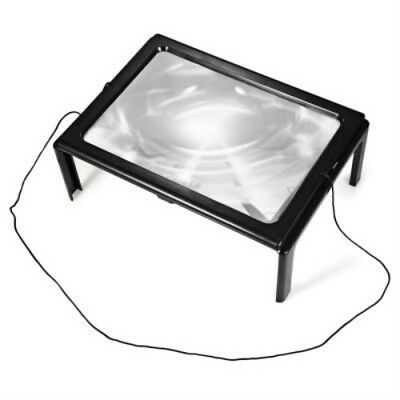Foldable Desk Type Magnifying Glass Magnifier with LED light For Reading New