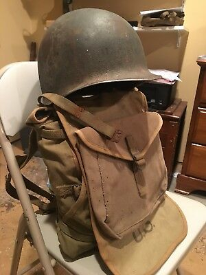 WW2 Helmet Grouping D Day Named To Foxy 29 Corpsman