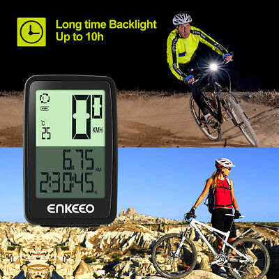Enkeeo BKV-1205 Wirless Bicycle Computer with USB Rechargable Recording Odometer