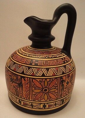 Ancient Greek Pottery Art Rare 900 BC Geometric Painted Vase Corinthian Oenochoe