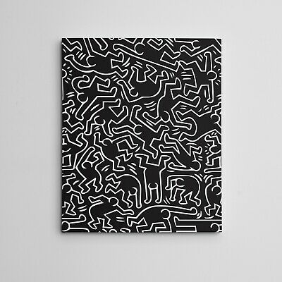 """keith Haring Art Framed Gallery Canvas Hip Hop """"Dancers"""" Home Decor 11x14"""""""