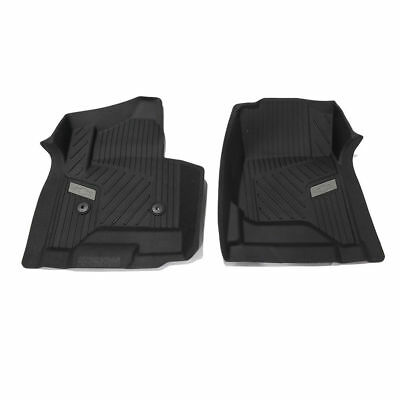2015-2018 Chevrolet Silverado GM OEM Front All-Weather Floor Mats NEW - Black