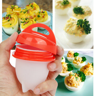 Egglettes Hard Boil Cooker Poacher Kitchen Tools Silicone Eggs Cup Steamer 6PCS