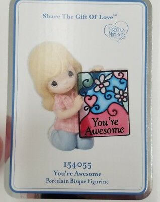 """Precious Moments Share the Gift of Love """"YOU'RE AWESOME"""" #154055 NIB 2015"""
