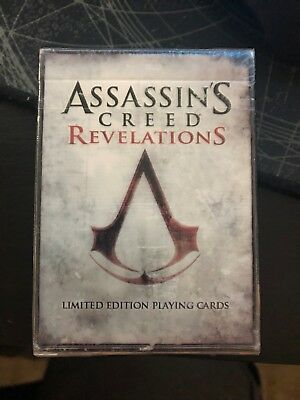 Assassins Creed Revelations - Limited Edition Playing Cards * New Sealed*