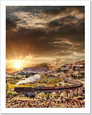 Glenfinnan Railway Viaduct In Scotland Art Print Home Decor Wall Art Poster - F