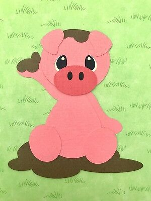 Fully assembled Pig die cut / paper piecing