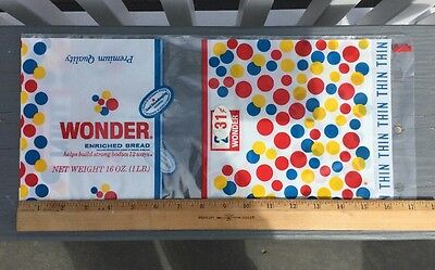 NOS 1965 Wonder  Bread Wrapper Bag .31 cent Good Housekeeping Seal Sign