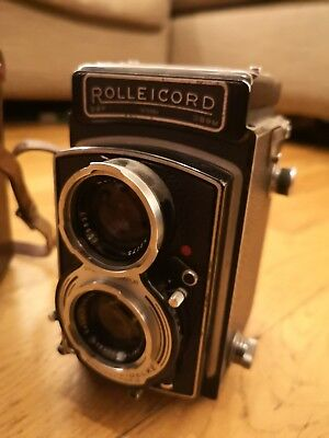 Rolleicord V - Model K3C TLR Camera with caps and leather case serial 1578984