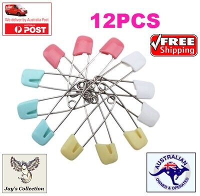 12 Pcs Nappy Safety Pins Baby Care Craft Scrapbook Sewing Baby Diaper [B1C1~B22]