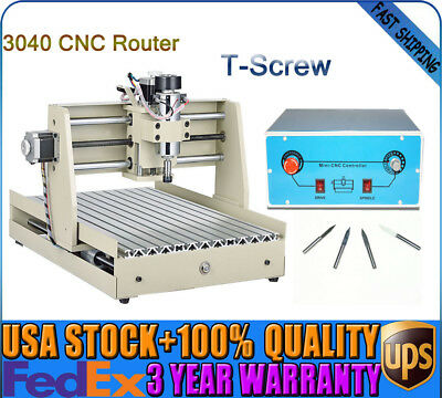 3 Axis 3040 CNC Router Engraver  Engraving Machine Cutter 400W T-Screw TOP