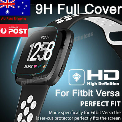 Fitbit Versa Screen Protector 9H Tempered Full Coverage Glass Guard
