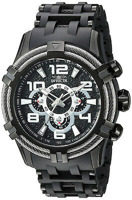 Invicta 25559 Bolt Black Dial Black Stainless Steel Chronograph Men's Watch