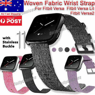 Replacement Band For Fitbit Versa /Versa Lit Fabric Watch Sports Strap Wristband