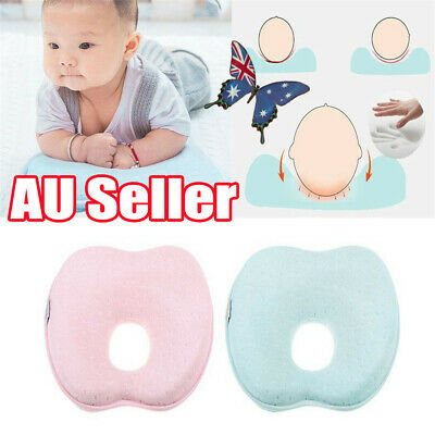 Baby Infant Newborn Memory Foam Pillow Prevent Flat Head Anti Roll Support D1
