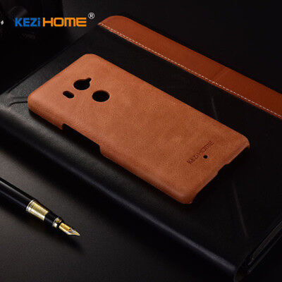 Luxury Matte Real Leather Ultra Thin Slim Back Case Cover For  HTC U11 U11 Plus