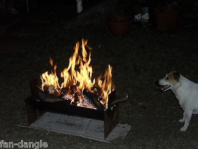 FIREPIT FIRE PIT CAMP FIRE CAMPFIRE MADE BY THE INVENTOR 10KG, 9mm PACKED FLAT