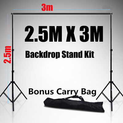 Pro 2.5x3m Photo Studio Backdrop Background Support System Set Stand Crossabar