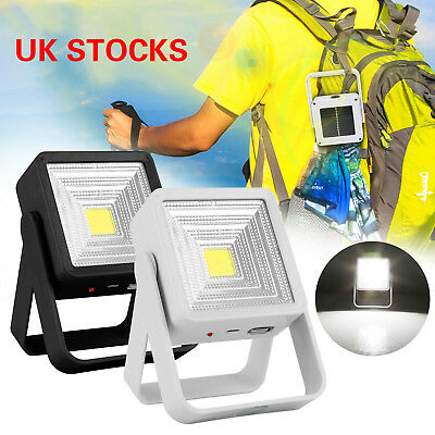 Solar Power Camping LED Lights Fishing Lamp 6000K 180lm Micro USB  Rechargeable