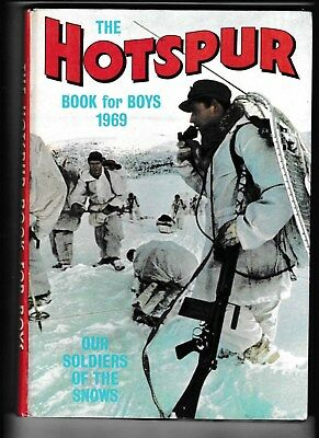 The Hotspur Book For Boys 1969 Good Condition Not Price Clipped
