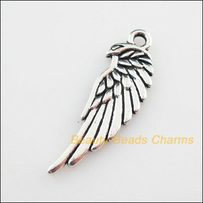 8Pcs Tibetan Silver Tone Animal Eagle Wings Charms Pendants 11x33mm