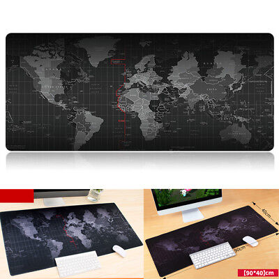 World Map Extended Gaming Wide Large Computer Mouse Pad Big Size Desk Mat