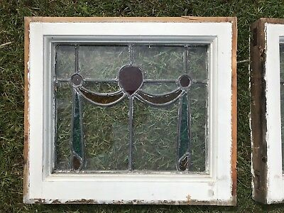 10 Original Leaded Stained Glass Windows From 1930s Property