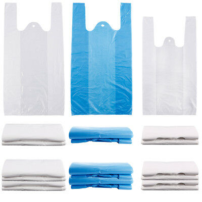 Plastic Vest Carrier Bags Storage Bags For Supermarkets Stalls Takeaway
