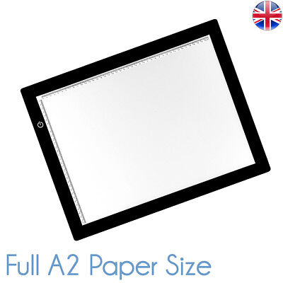 "Full A2 LED Ultra Slim Light Box Dimmable Photographic 5600K 25"" x 17"" Lightbox"