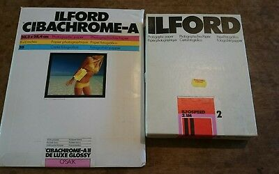 Ilford Cibachrome-A II Deluxe Glossy Color Paper and Ilford ilfospeed 6.5x8.5""