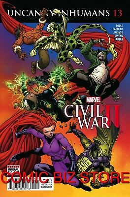 Uncanny Inhumans #13 (2016) 1St Printing Bagged & Boarded Marvel Comics