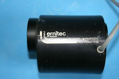 Vintage Tv Camera Powered Lens Ernitec 12.5-75Mm F18 # 811392