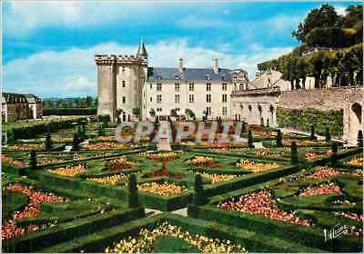 Modern Postcard Villandry (Indre and the Loire) the Gardens has the Frenchwoman