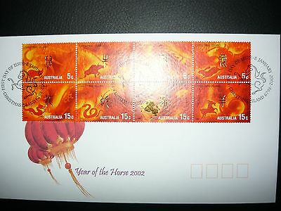 2002 year of the horse First day cover