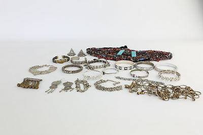Lot of 20 x Vintage Mixed Indian/Eastern Themed Jewellery Inc. Bangles etc