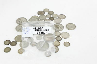 Lot of Vintage Pre 1947 GEORGE V&VI Mixed Denomination Silver Coins 215g