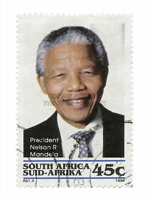 Postage Stasouth Africa 45 Cents Nelson Mandela Late President Canvas Print