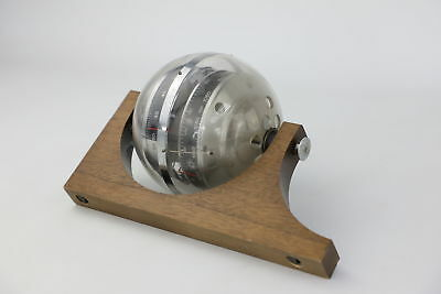 Quirky Retro Vintage HUGER BAROMETER w/ Sphere Design & Wall Mount Untested
