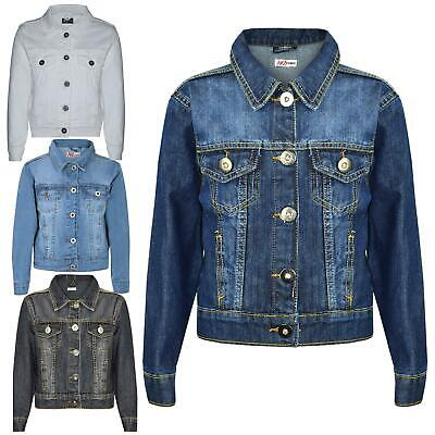 Kids Girls Jackets Designer Denim Style Fashion Jean Jacket Coat New Age 3-13 Yr