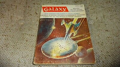 Vintage GALAXY Science Fiction Pulp Digest Magazine April 1965 Vol 23 # 4