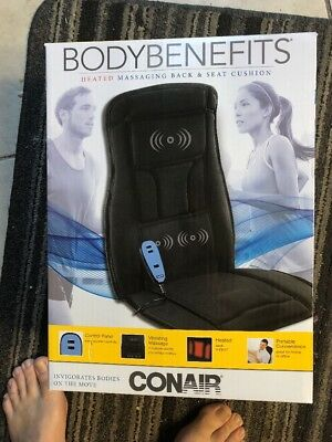 Heated Back Massage Seat Cushion Car Chair Massager for Lumbar Neck Hip Heat Pad