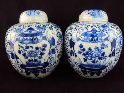 STUNNING Chinese 19thC Porcelain Oriental Antiques Blue and White Enamel Vase