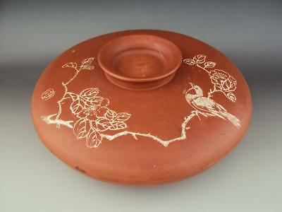 Rare Unusual  Old Chinese Yixing Zisha Oriental Antiques Bowl and Cover Vase