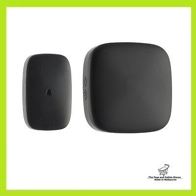 Arlec Black Touch Activated Wireless Door Chime
