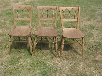 Antique Kitchen Chairs Circa 1840 - Pine or Beech - 3