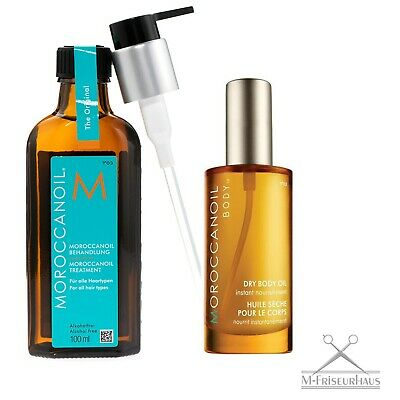 Moroccanoil Treatment 100ml + Dry Body Oil 50ml + Pumpe 10 Years Special Edition