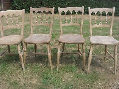 Antique Kitchen Chairs Circa 1840 - Pine or Beech - 4