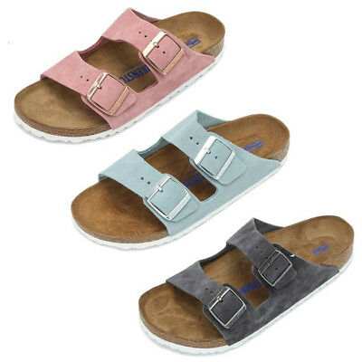 7830fb9e6ea3 Birkenstock Arizona Leather Rose   Light Blue   Stone Strap SFB Sandals  Shoes