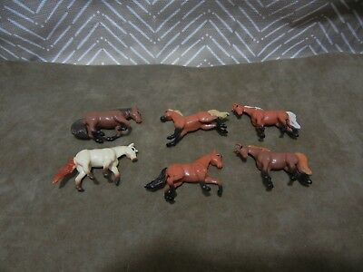 Set of 6 Knock Off Made in China Breyer Mini Whinnies Micro Model Horses