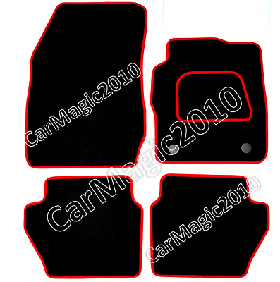 Ford Fiesta Mk7 Tailored Car Mats 2011 onwards - Red